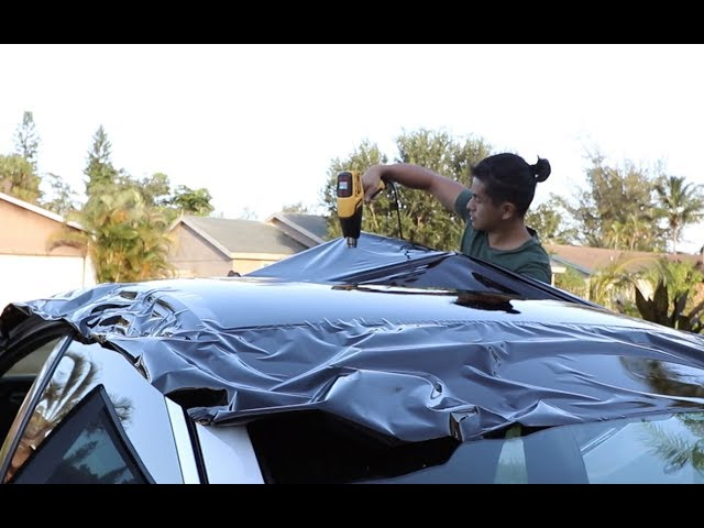 Rewrapping The Maxima S Roof Timelapse Youtube