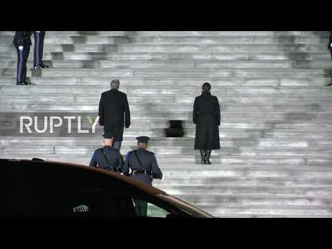 USA: Colleagues attend service of police officer killed in Capitol riot