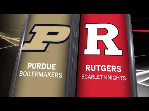 Big Ten Basketball Highlights - Purdue at Rutgers