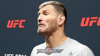"""STIPE MIOCIC THROWS DIG AT DANIEL CORMIER """"THE DUDE REALLY CRIED ON NATIONAL TV"""""""