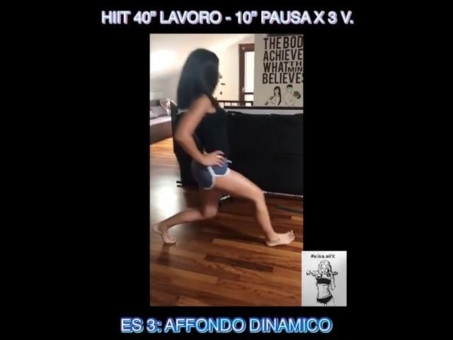 """CIRCUITO HIIT 40"""" LAVORO-10"""" PAUSA X 3 VOLTE #67"""