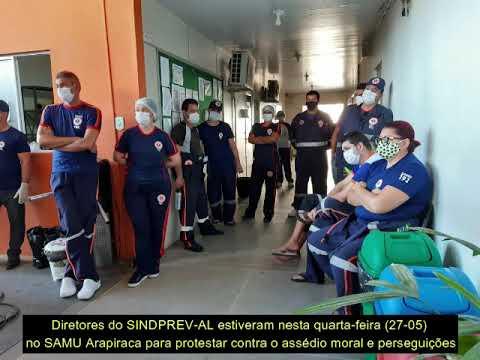 SINDPREV-AL vai ao SAMU de Arapiraca repudiar assédio moral e perseguição de servidores