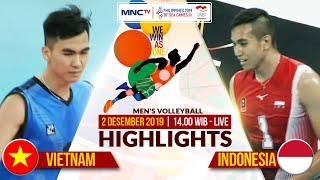 VIETNAM VS INDONESIA (0-3) | Highlights Men's Volleyball | SEA GAMES 2019