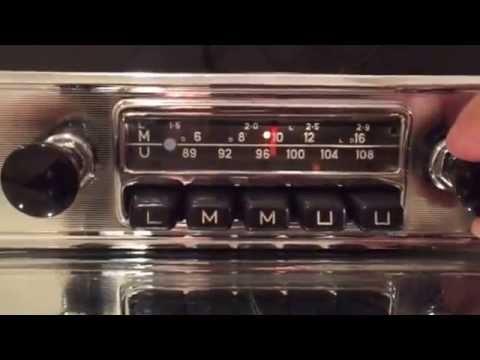 Chromelondon.com BLAUPUNKT FRANKFURT 108mhz FM VINTAGE CHROME RADIO WITH MP3 AND WARRANTY