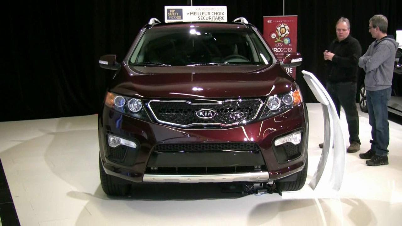 Kia Sorento Interior >> 2012 Kia Sorento SX V6 AWD Exterior and Interior at 2012 Montreal Auto Show - YouTube