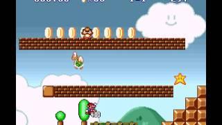 Super Mario All-Stars - Super Mario The Lost Levels World 1-1 (SNES) - User video