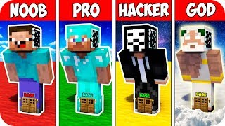 Minecraft NOOB vs PRO vs HACKER : SMART BLOCK BASE INSIDE EVOLUTION