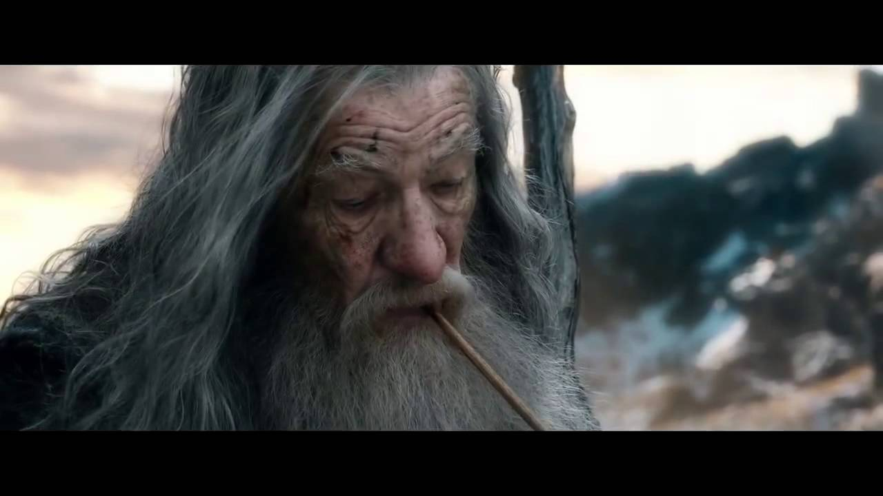 The Hobbit The Battle Of The Five Armies Bilbo Gandalf Scene Youtube