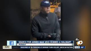 Search for Poway robbery suspect