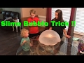 Slime trick with homemade slime.  Hannah makes her famous stretchy slime.
