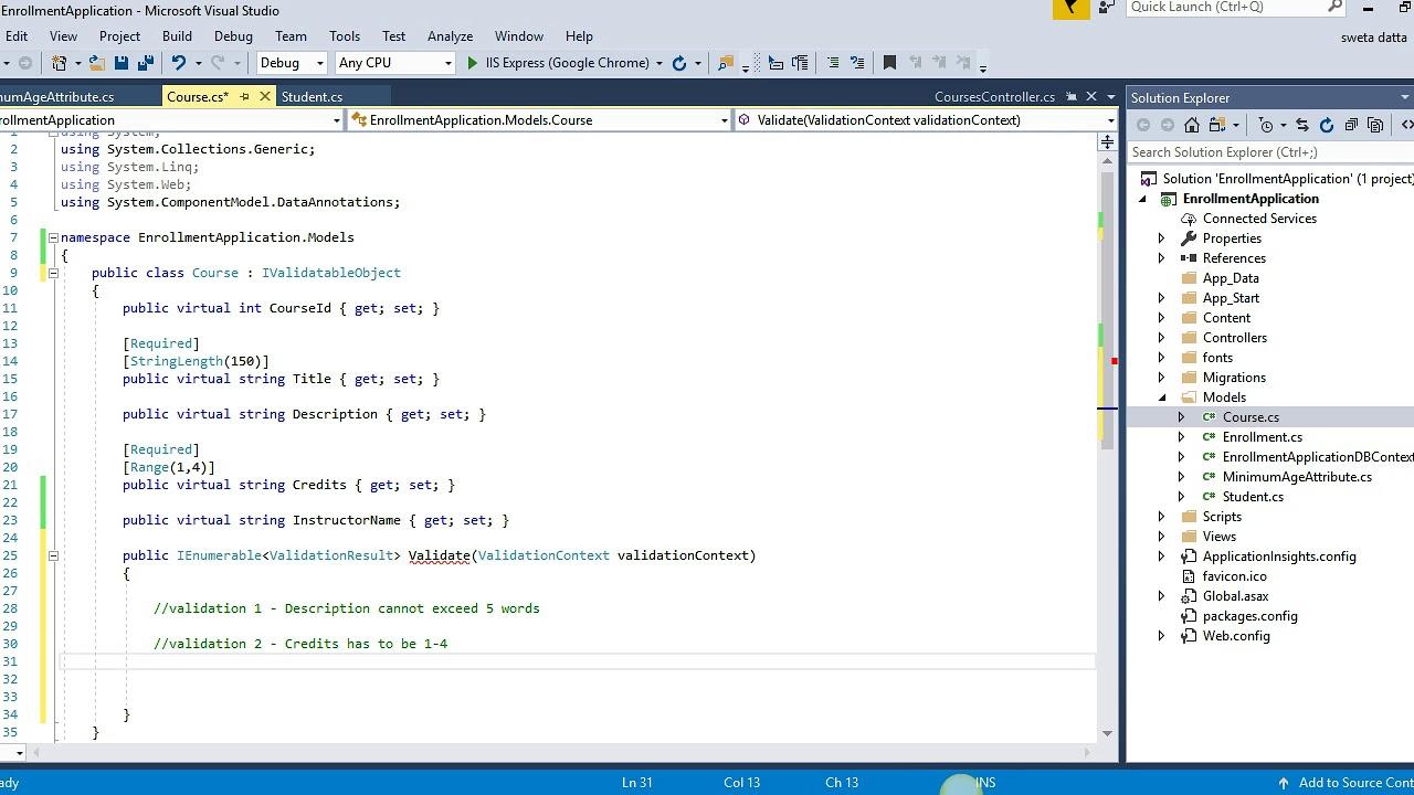 Self validating software