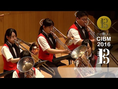 CIBM 2016 - Aomori Prefecture High School Band - Les trois notes du Japon