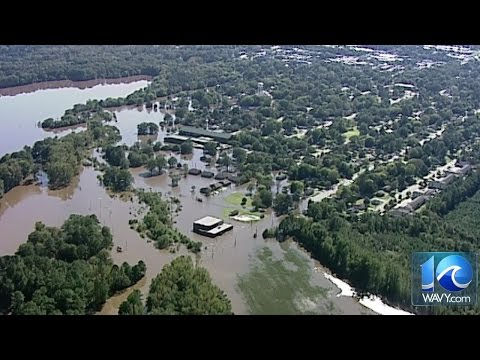 Chopper 10 video of Tarboro, NC flooding