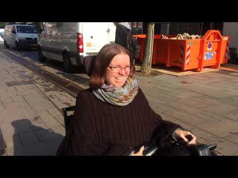 På tur i Fredericia i kørestol