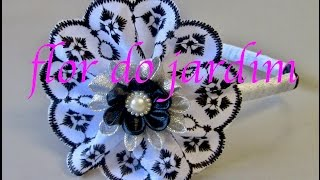 Tiara com bicos bordados e fitas -DIY -Tiara with embroidered beaks