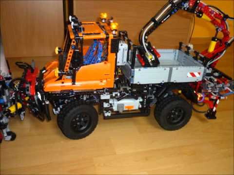 lego technic unimog u400 8110 mit schneepflug und led. Black Bedroom Furniture Sets. Home Design Ideas