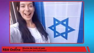 Deseos de morim de todo el país por Iom HaAtzmaut 72
