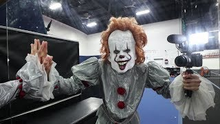PENNYWISE TOOK MY CAMERA AND RECORDED ME!! *TRAPPED US*