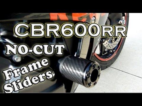 Cbr600rr No Cut Frame Sliders Install And Review The Alphamoto Com