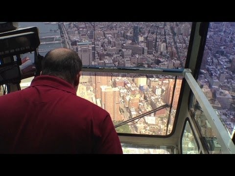 Operating the WTC crane 91 stories up!