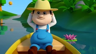 row row row your boat | nursery rhymes farmees | kids songs | 3d rhymes