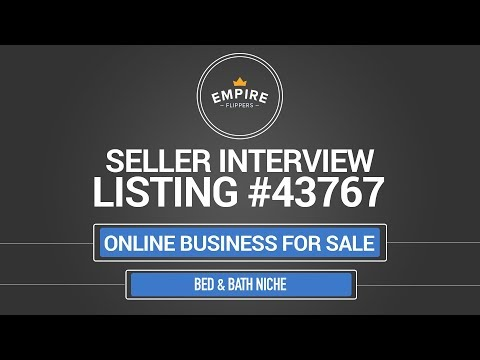 Online Business For Sale – $15.3K/month in the Bed & Bath Niche