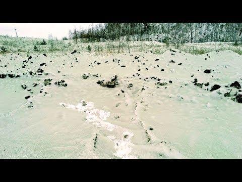Зеленый снег. Странное явление в Челябинске