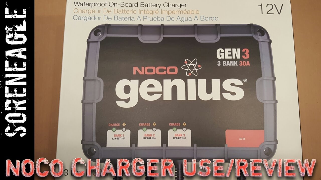 Noco Genius Gen3 Gen2 Onboard Smart Waterproof Battery Charger Use Wiring Diagram And Review Car Boat Auto Marine