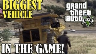 GTA 5 - Secret Car Location (BIGGEST VEHICLE IN THE GAME) 'HVY Dump Truck'