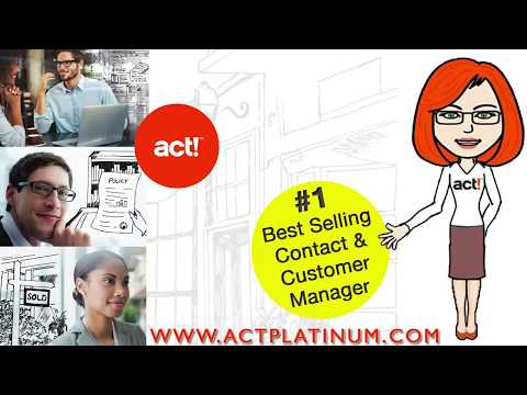 ACT CRM Software for your Business from YouTube · High Definition · Duration:  2 minutes 2 seconds  · 37.000+ views · uploaded on 13.02.2015 · uploaded by ACTPLATINUM
