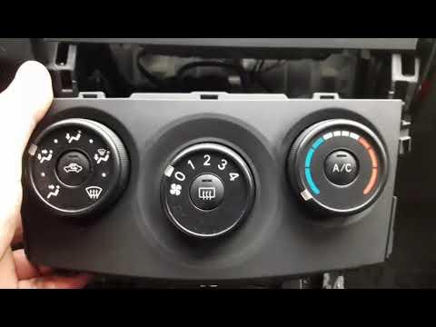 как розобрать центральную консоль Тойота королла.Замена подсветки переключателей печки(ламп).