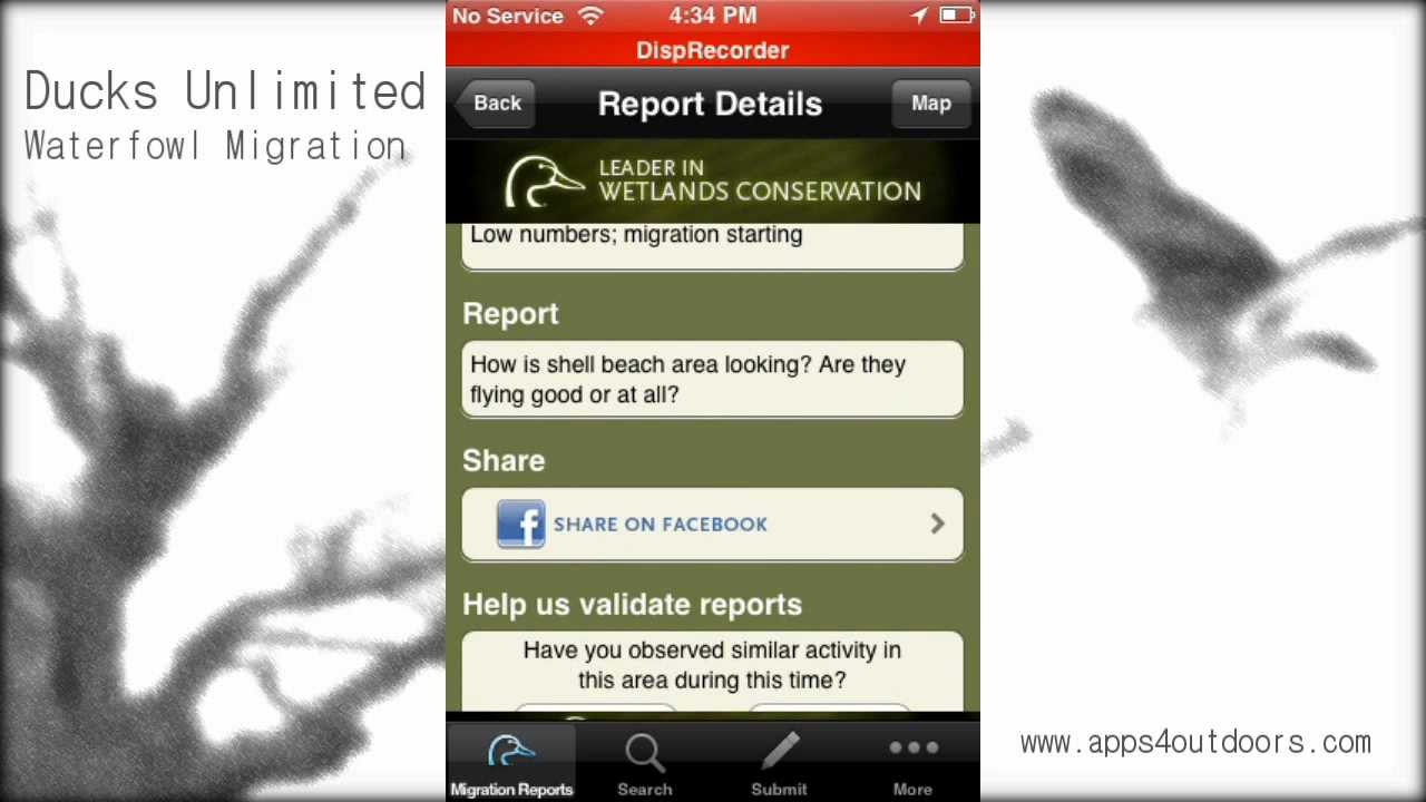 Ducks Unlimited Waterfowl Migration - App review - YouTube on