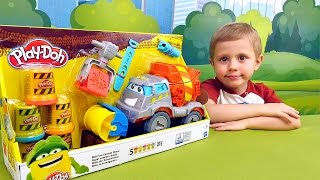 Бетономешалка MAX - Игровой набор Play Doh. MAX the Cement Mixer. Даник и пластилин Плей До