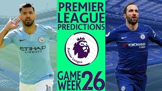 EPL Week 26 Premier League Score and Results Predictions 2018/19