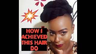 A QUICK WAY TO STYLE NATURAL HAIR USING AN EXTENSION BRAID