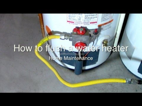 How To Clean Flush And Drain Sediment From A Water Heater