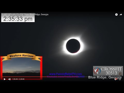 SOLAR ECLIPSE from Blue Ridge, Georgia