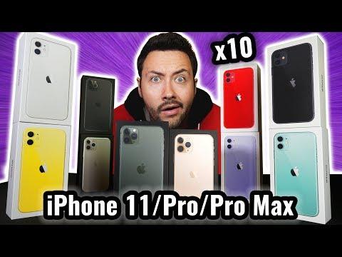 J'ai acheté 10 iPhone 11 / Pro / Pro Max ! (toutes les couleurs)