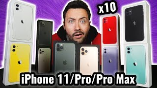 I bought 10 iPhone 11 / Pro / Pro Max ! (all the colours)