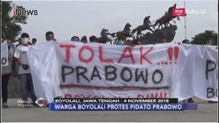 Ribuan Warga Boyolali Gelar Aksi Terkait Pidato Prabowo Subianto - iNews Malam 06/11