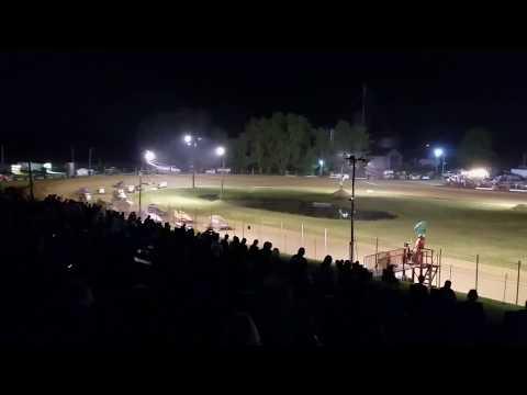 Sprint Car A-Main (Flip at Start) - Paragon Speedway 5/17/19