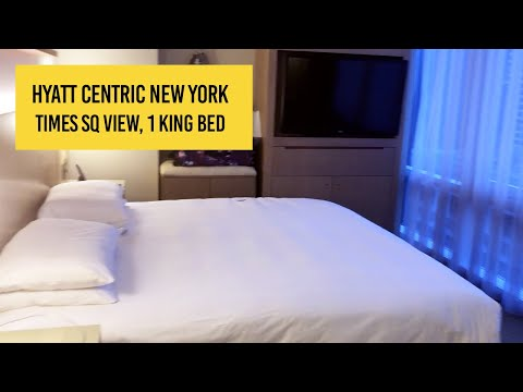 hyatt-centric-times-square-hotel---times-square-view,-1-king-bed-room-tour-and-review