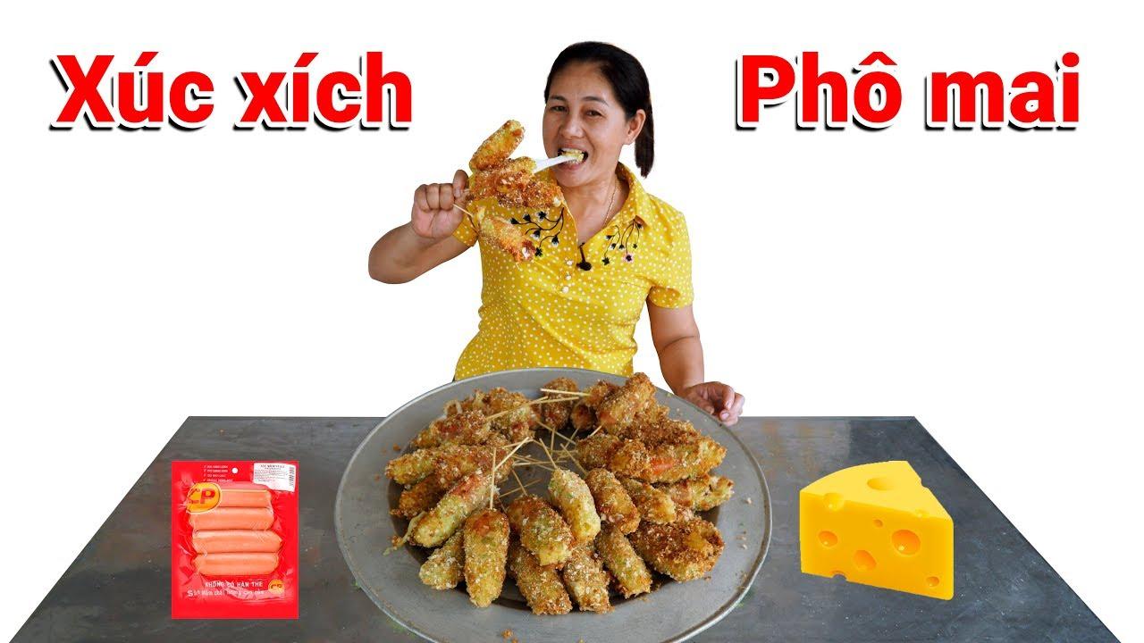 Làm Mâm Xúc Xích Phô Mai Chiên Xù ( Fried cheese with sausage ) – Ninh TV