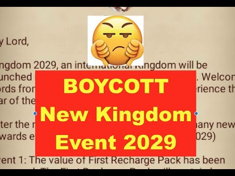 Clash Of Kings : BOYCOTT New Kingdom 2029