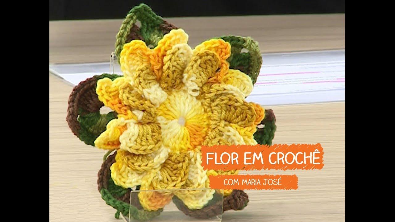 Loja Artesanato Rio De Janeiro ~ Flor em Croch u00ea com Maria José Vitrine do Artesanato na