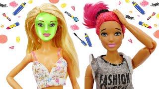 Куклы Барби и Тереза вСалоне Красоты— КУКЛЫ НАУЧАТ ВАС, как навести красоту! —Видео скуклами