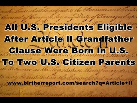 Senator Ted Cruz Addresses His Article II Natural Born Citizen Status