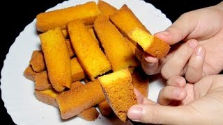 Cake Rusk - How to make Cake Rusk Recipe - Tea Time Recipe