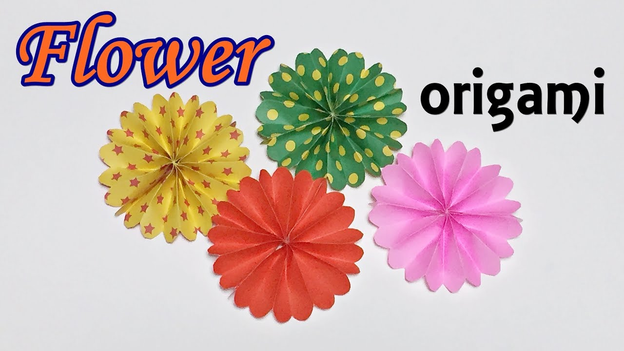 Origami Flower Very Easy And Simple Craft How To Make A Paper Cute