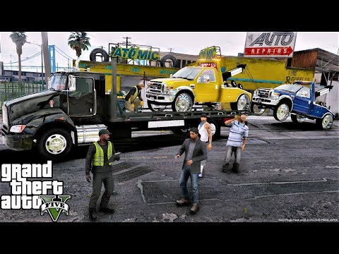 GTA 5 Real Life Mod #111 Repoing 2 Ford F550 Tow Truck Wreckers From Our Competition The Vagos Gang
